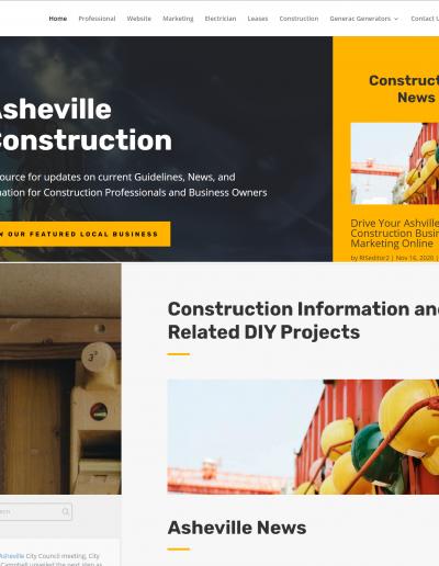 Digital Branding: Asheville Construction